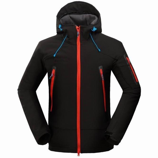 Veste Softshell homme coupe-vent imperméable randonnée vestes extérieur épais hiver manteaux Trekking Camping Ski