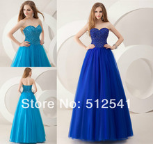 Free Shipping Sweetheart A Line Prom Dresses Beads Organza Floor Length Formal Girls Gowns yk8R957