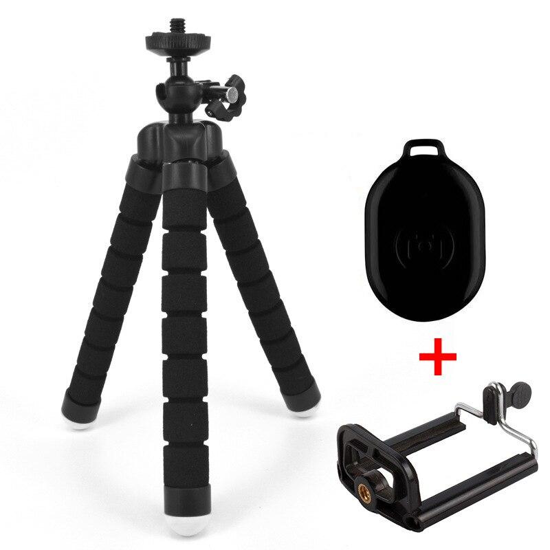 Caméra Trépied avec Bluetooth déclencheur à distance pour téléphone Mobile caméra titulaire Clip smartphone monopode stand poulpe mini trépied