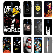 Ojeleye Fashion Black Silicon Case For Huawei Mate 10 Lite Cases Anti-knock Phone Cover G10 Covers