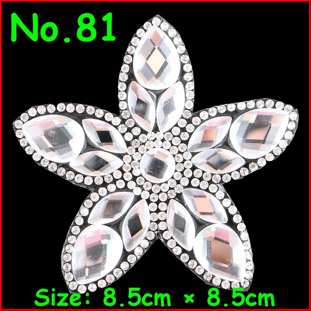 1 Pcs Lot Flower Motif Rhinestones Crystal Motif Appliques Iron On Patches  For Women Bride Wedding Dress Kid Clothes DIY Garment 3c2ebe85b6b8