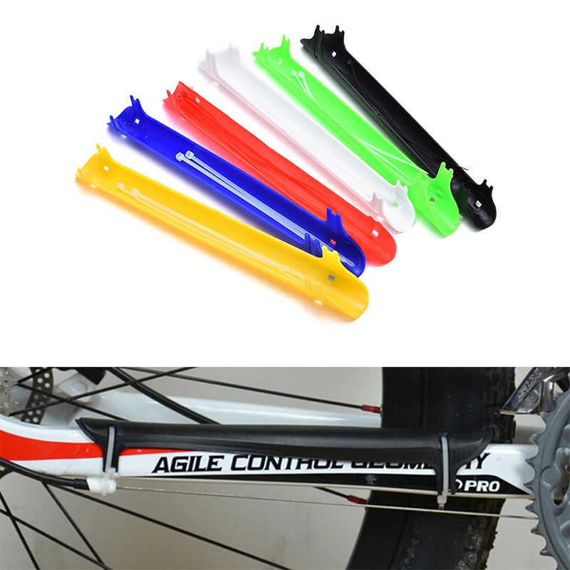 Vélo vélo chaîne de vélo protecteur de chaîne protection de protection protection en plastique solide