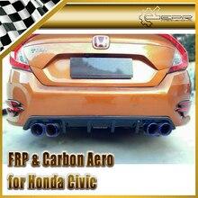 ЭПР Стайлинга Автомобилей Для Honda 10th Поколения Civic ФК Углеродного Волокна KS-Стиль Задний Диффузор