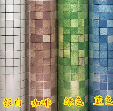 High Temperature Sticky Wallpaper From The Kitchen Oil Mosaic Sticker Tinfoil Waterproof Bathroom Toilet Wall Stick Ceramic 222z