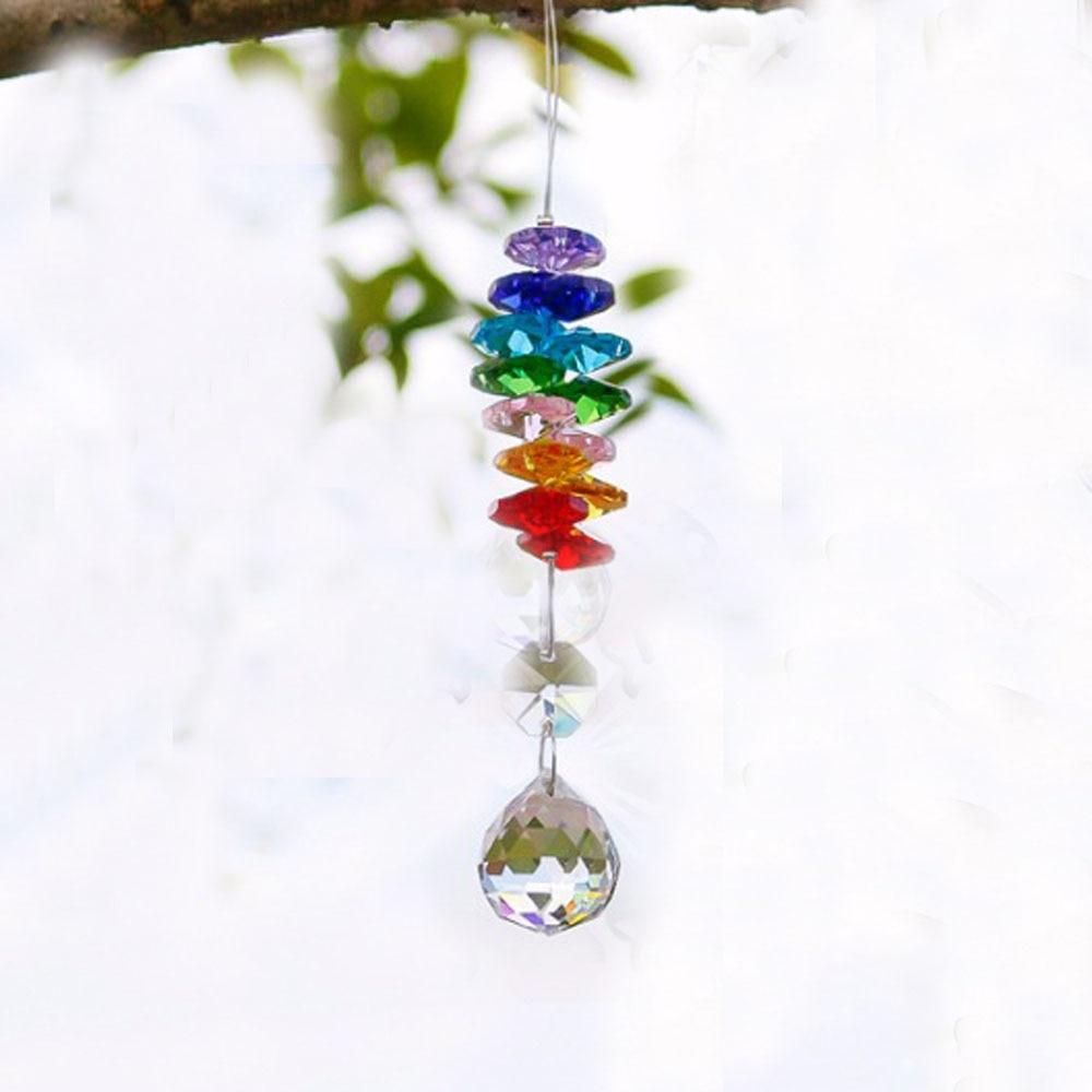 Crystal Suncatcher Ball Prism Hanging Rainbow Maker Tree of Life Decor Pendants