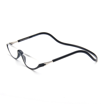 1a173ff239 Gafas de lectura con imán Unisex para hombres y mujeres con cuello colgante  ajustable con borde frontal magnético
