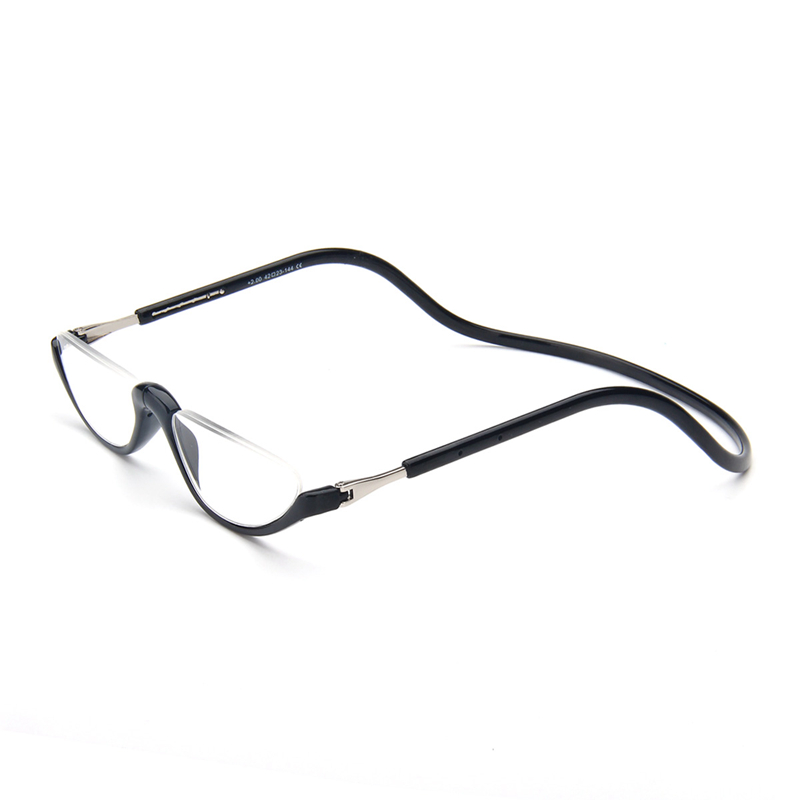 Unisex Magnet Reading Glasses Men And Women Adjustable Hanging Neck Magnetic Front Rim Reading Eyeglasses