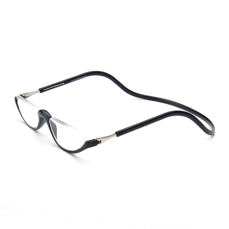 Unisex Magnet Reading Glasses Men And Women Adjustable Hanging Neck Magnetic Front Rim Reading Eyeglasses