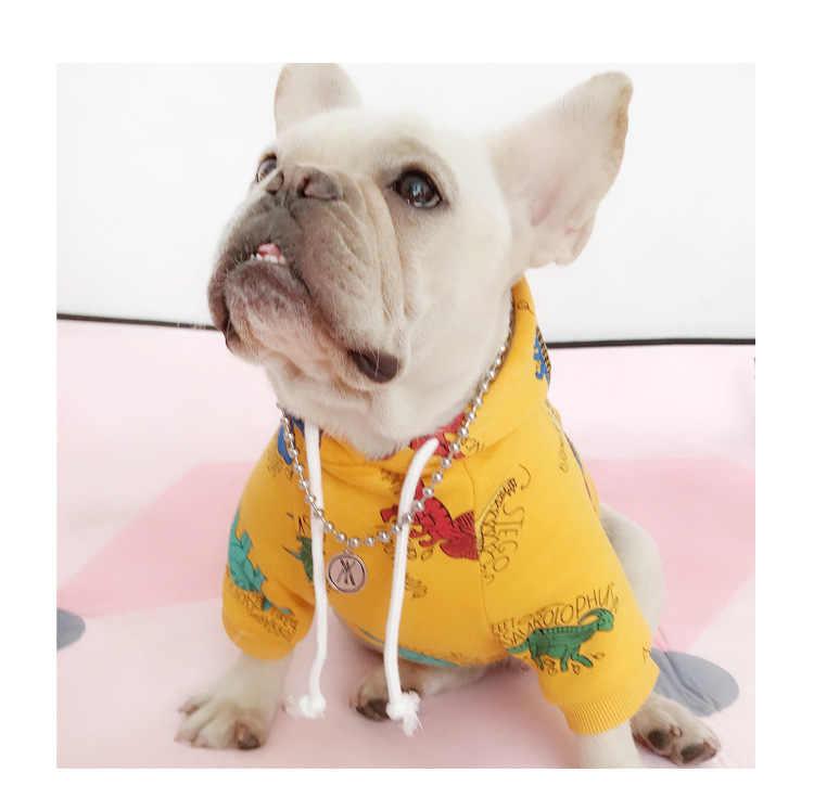 Panno Morbido di inverno I Vestiti della Famiglia Per Il Cane Genitore-Bambino di Corrispondenza Vestito Cane di Piccola taglia Medio Cappotto Giacca Per Bulldog Animale Domestico Gatto pigiama Hoodi