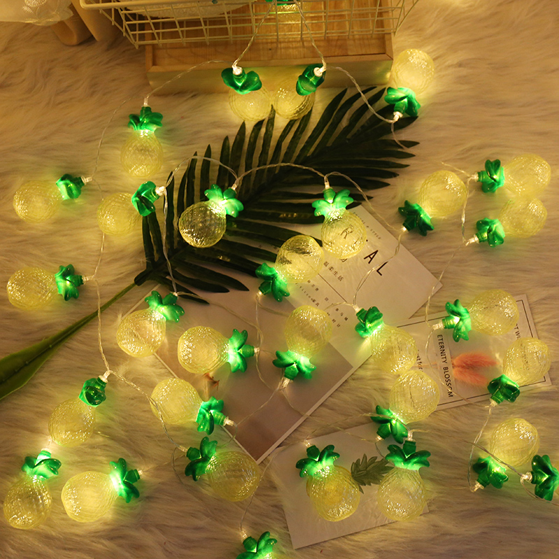 BRIGHTINWD Pineapple String Lights Fairy for Wedding Decoration Holiday LED Fruit Light Patio Lanterns Garden Party Lights