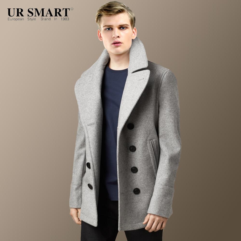 Online Buy Wholesale men light grey wool coats from China men ...
