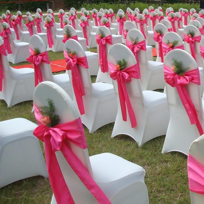 Wholesales 30PCS White Satin Chair Bow Sashes Ribbon For Wedding ...