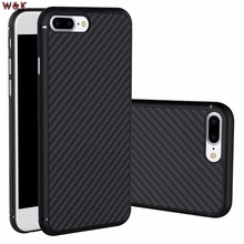 For iPhone 6 6plus 6s 6splus 7 7plus case Nillkin synthetic fiber phone case Hard Carbon Fiber PP Plastic Back Cover Case