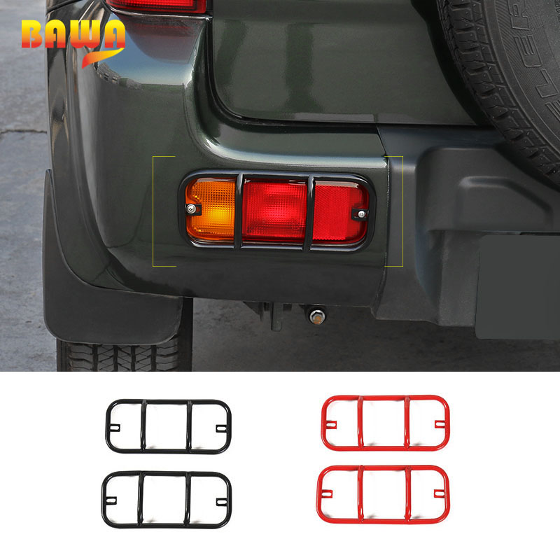 BAWA Lamp Hoods for Suzuki Jimny 2007 2017 Metal Rear Fog Light Cover for jimny Car Accessories in Lamp Hoods from Automobiles Motorcycles