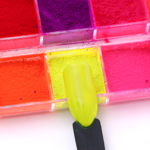 Image 3 - Kit de pó de glitter para unhas 12cores, pó cromado de cor pó de arco íris para decoração de manicure laye