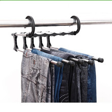 Clothes Hanger Space Saving Pants Rack Multifunction Stainless Steel Scarf Towels Hangers Storage Racks Dropshipping