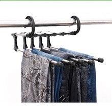 Colgador de ropa pantalones de ahorro de espacio estante multifunción de acero inoxidable bufanda toallas perchas de ropa estantes de almacenamiento Dropshipping