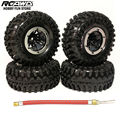 RCAWD SCX10 AX10 Inflatable 2.2 Inch Pneumatic Beadlock Tire Wheel 4pcs For 1/10 RC Crawler Truck Wraith SCX10 AX10