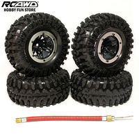 RCAWD SCX10 AX10 Inflatable 2 2 Inch Pneumatic Beadlock Tire Wheel 4pcs For 1 10 RC