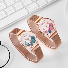 Luxury Ladies Dress Watch 2019 Fashion Women Mesh Bracelet Flower Wrist Watches Female Quartz Clock Reloj Mujer Bayan Kol Saati все цены