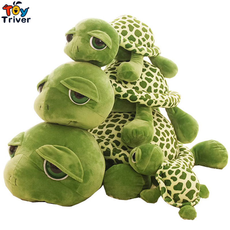 Plush Big Eye Green Tortoise Turtle Toys Doll Stuffed Ocean Animal Gift For Baby Kids Baby Home Shop Decoration Ornament Triver stuffed animal 44 cm plush standing cow toy simulation dairy cattle doll great gift w501