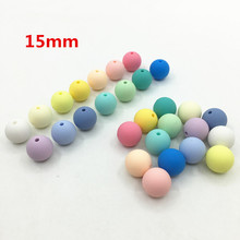 15mm Silicone Beads baby teething beads Round baby teething