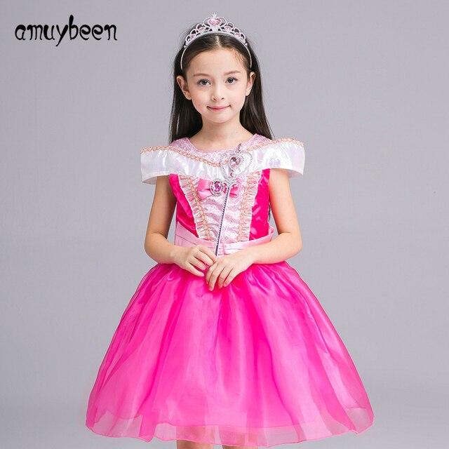 Amuybeen niña ropa verano nuevo Vestidos de flores de niña para ...