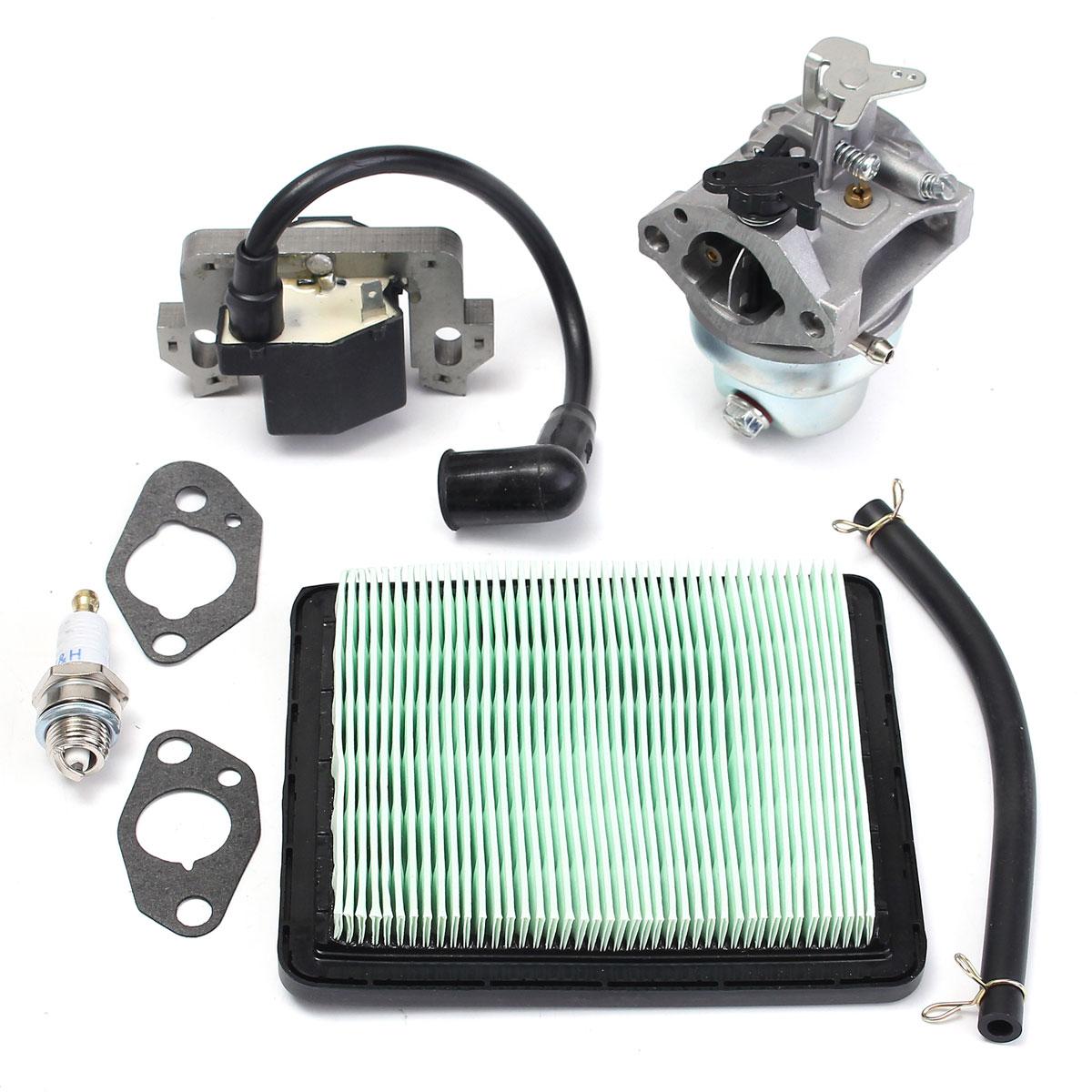 Motorcycle Carburetor Ignition Coil Spark Plug Filter Set for Honda GCV160 HRB216 HRS216 HRR216 Air filter Oil Carburetor Kit