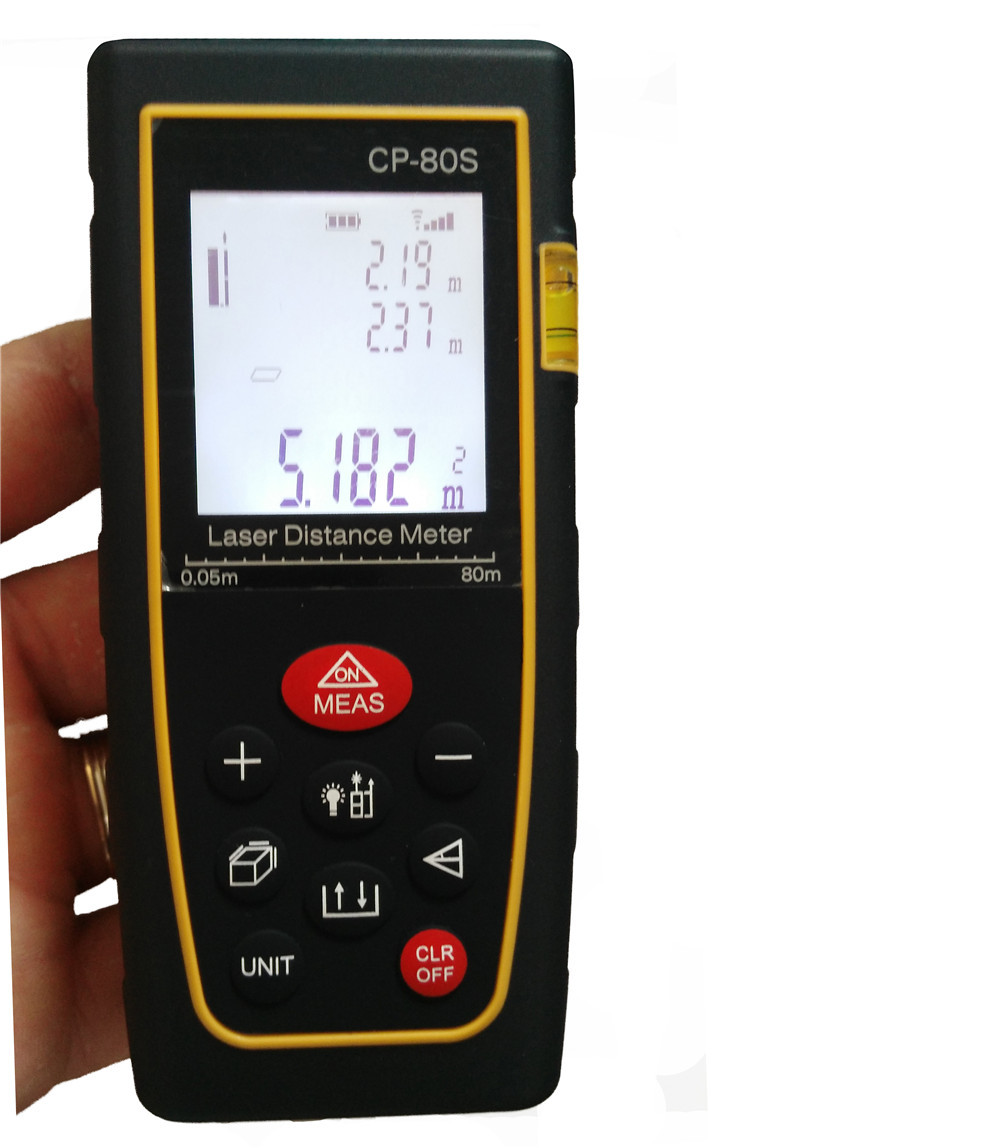 Free shipping 60m LETER CP60S  Laser distance meter Bubble Level Rangefinder Range finder Tape measure tool Area/Volume M/in/Ft  цены