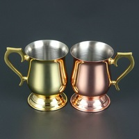 wine red golden copper cup Moscow Mule cocktail mugs glasses Moscow donkey cups