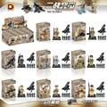8 unids/lote DLP 9016 Super Heroes Avengers Guerra Mundial 2 Con Armas Militares Building Blocks Establece Ladrillos Modelo Juguetes
