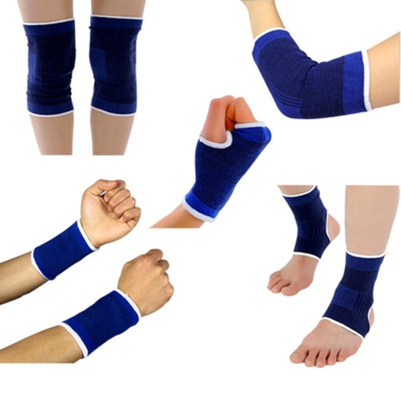 5Pair/5set Elasticated elbow Knee Pads Knee Support Brace Leg Arthritis Injury GYM Sleeve Bandage Ankle Brace Support