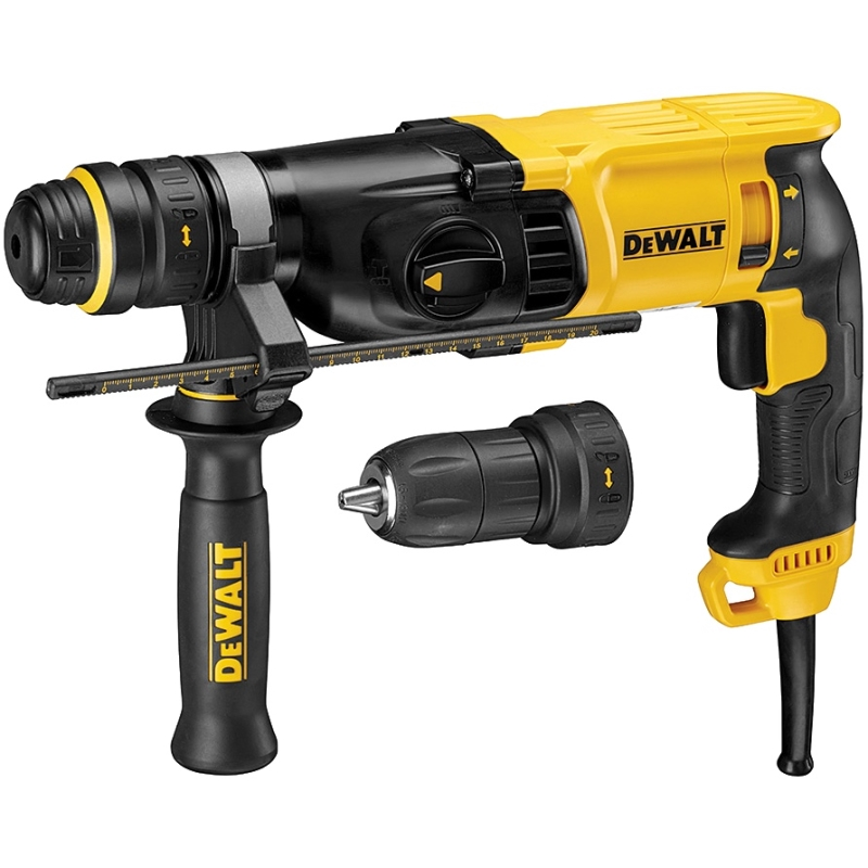 Electric hammer drill DeWalt D25134K impact Energy 3j type drill chuck SDS + reverse from 0 to 5540 beats per minute