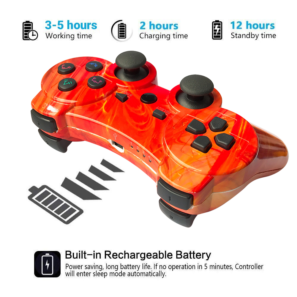 Image 2 - For sony ps3 controller Wireless Bluetooth Gamepad For PS3 Controller game Joystick Playstation Double vibration Console ipega-in Gamepads from Consumer Electronics