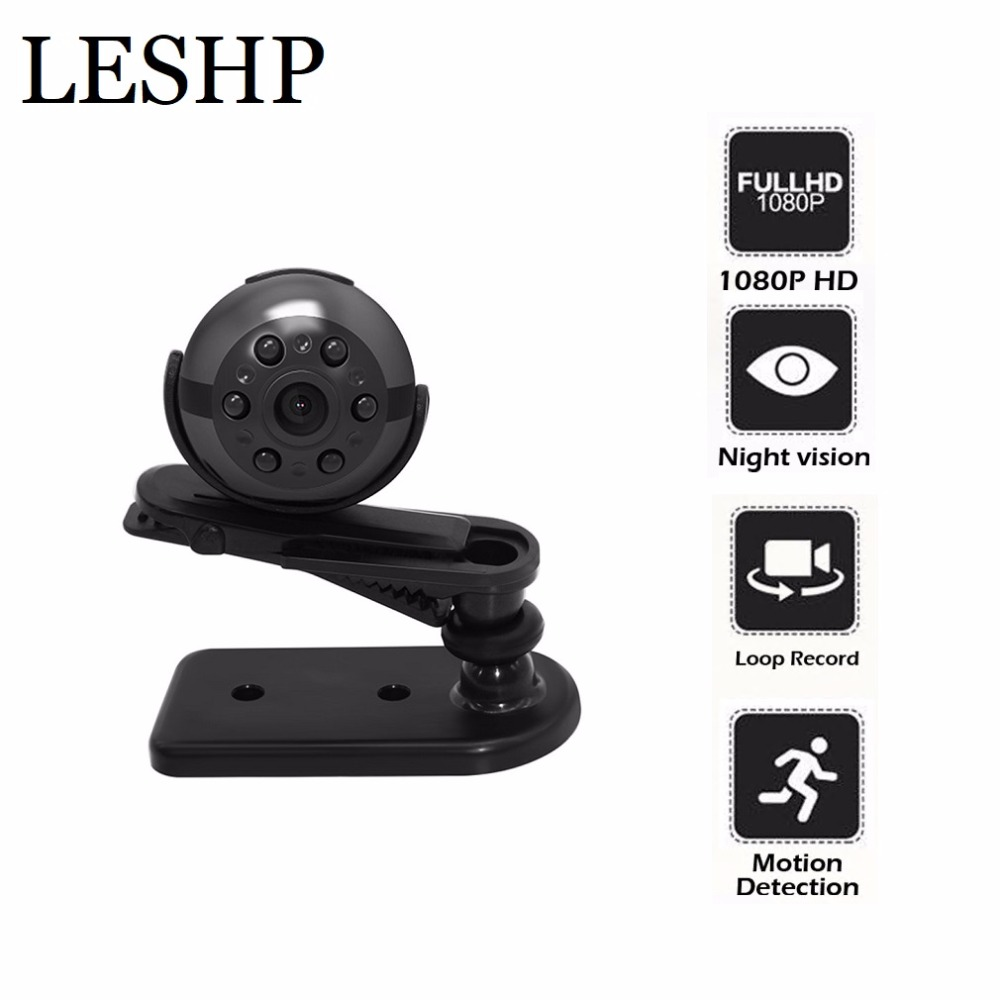 Mini Smart monitoring video recorder Camera Support Motion Detection IR Night Vision Loop Recording Video Surveillance Camcorder mini motion activated camera with night vision auto video recorder build in pir detector high definition recording