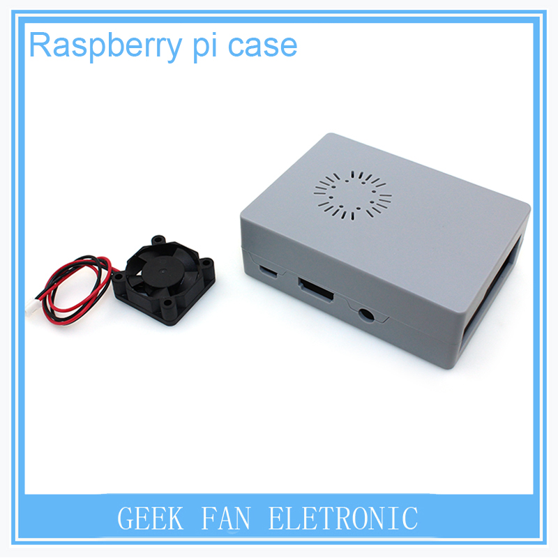 New Raspberry Pi ABS Grey color case Plastic Box with Fan module For Raspberry Pi 2 & Raspberry Pi model b plus &3 RP0012G