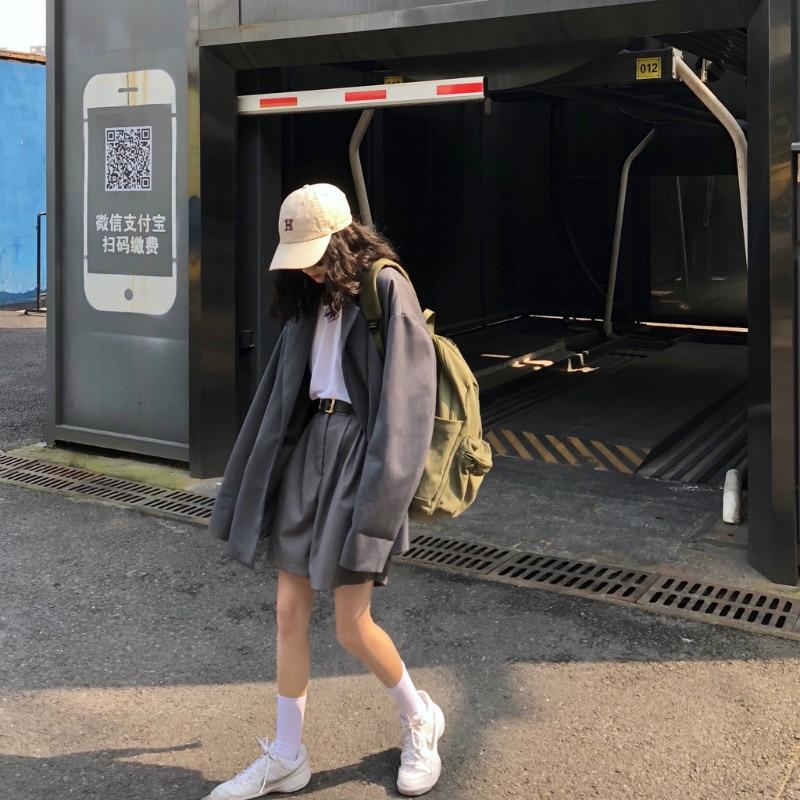 Pants & Capris Womens Short Korean Punk Harajuku Ulzzang Loose Slimming A Word Flower Lanterns Suit Wide Leg Fashion Fluffy Hot Pants Bottoms