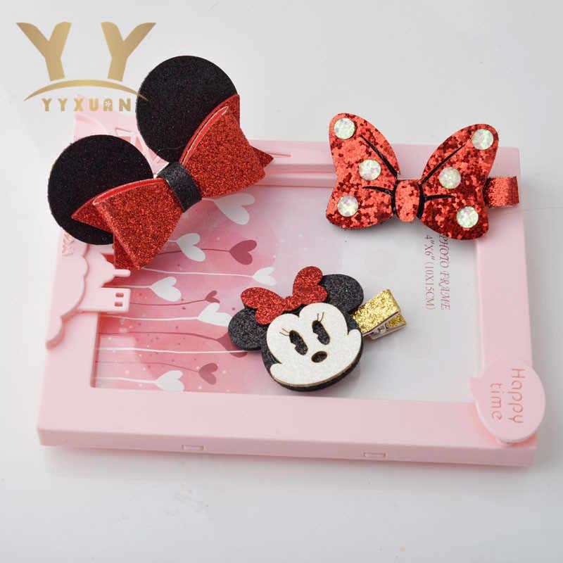Новая мода Красный лук Мышь девушки дети прическа Малыш Новый утконоса головы сторона клип мороженое Заколки для волос A7