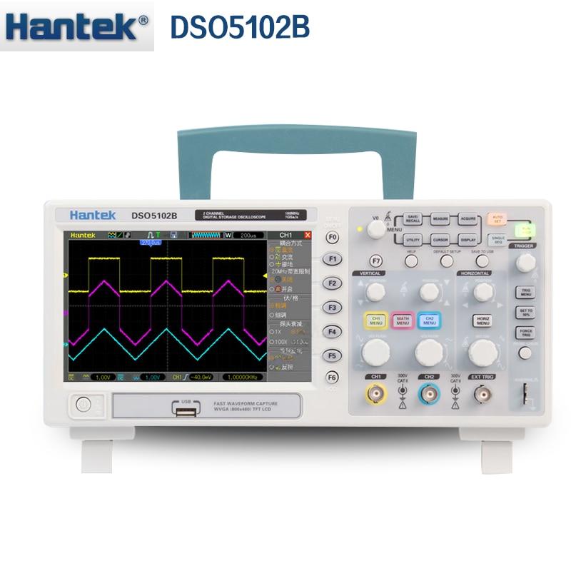 Hantek DSO5102B Digital storage oscilloscope 2CH 100MHz Benchtop Scopemeter 1M Memory depth 1GSa s Sample Rate