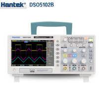 Hantek DSO5102B Digital storage oscilloscope 2CH 100MHz เครื่องแสดง Scopemeter 1M ความลึกหน่วยความจำ 1GSa/s ดีกว่า than5102P