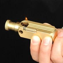 Ручная работа латунная Классическая масляная зажигалка для мужчин сигаретный брикет подарок 72 мм* 21 мм 155 г