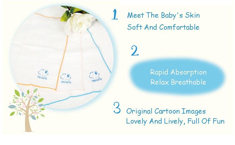 Square Cotton Cartoon Baby Bath (5)