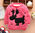 Baby girls warm coat kids princess long sleeve winter snow deer fleece overcoat jacket 4p/l
