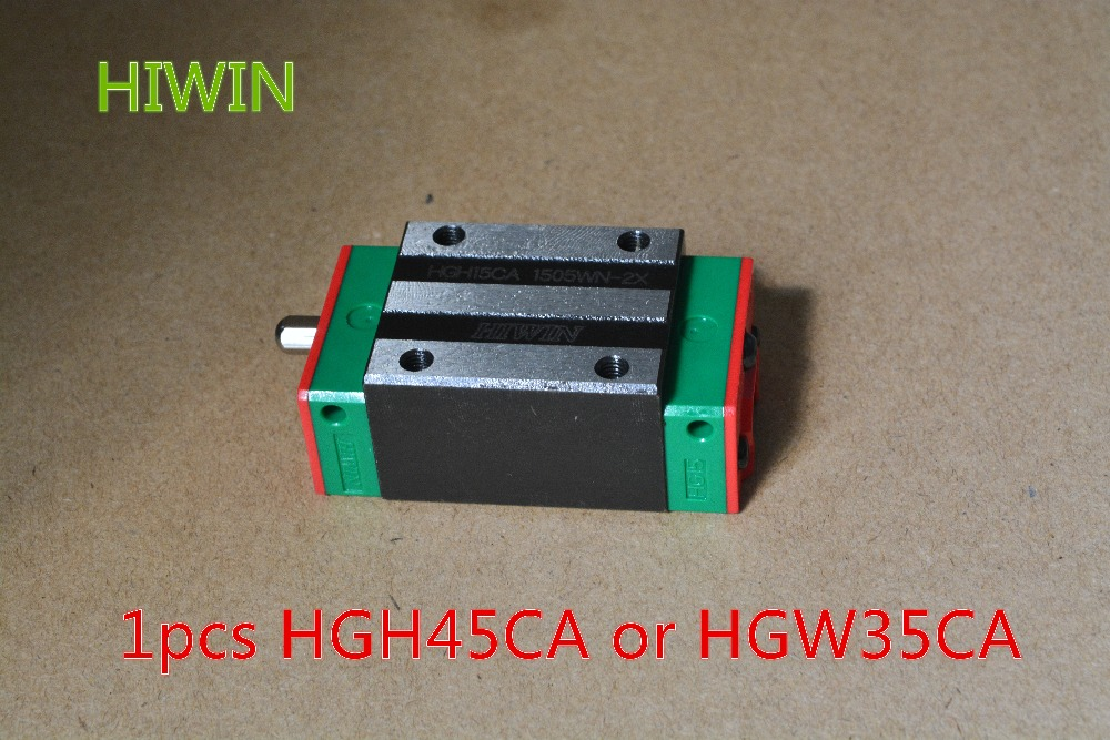 HIWIN Taiwan made 1pcs HGH45CA or HGW45CA linear bearing sliding block for HGR45 45mm linear guide for CNC Router