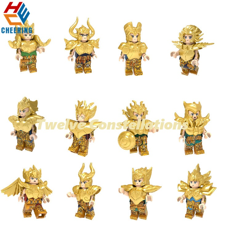 Anime Figure One Set Wholesales Plastic Toys Saint Seiya Building Block Twelve Constellations  Modles For Kid Toy PG8212 PG8213Anime Figure One Set Wholesales Plastic Toys Saint Seiya Building Block Twelve Constellations  Modles For Kid Toy PG8212 PG8213