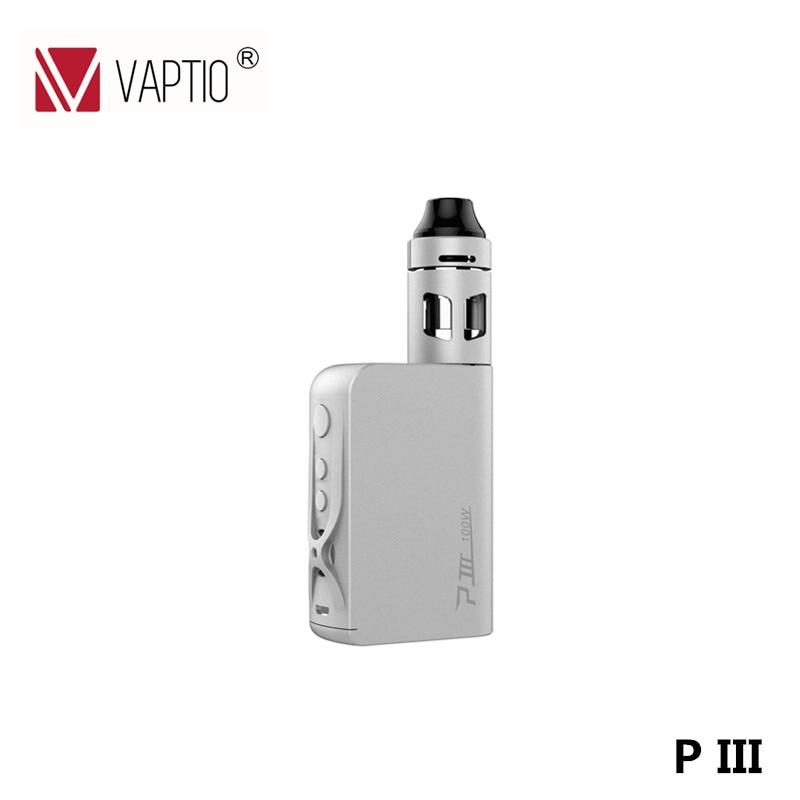 100W Vaptio P 3 Kit with 2.0ml Capacity Tank 3000mAh battery Electronic Cigarette vs Nebula Box Mod vaptio ascension s50 4200mah box mod kit electronic cigarette kit