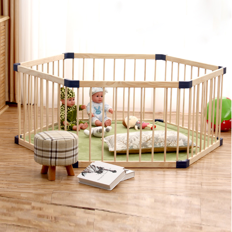 Indoor Children's Solid Wood Play Fence Baby Crawl Toddler Fence Baby Home Solid Wood Safety Fence Baby Playpen Fence
