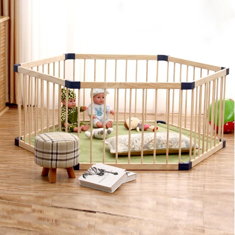 Indoor Children's Solid Wood Play Fence Baby Crawl Toddler Fence Baby Home Solid Wood Safety Fence Baby Playpen Fence