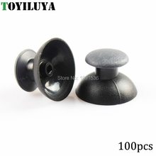 Mushroom Shape Game Accessory Anolog Thumbsticks 100pcs Plastic Thumb Stick Grip Caps for PS3 Game Controllers Black