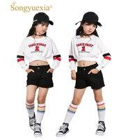SONGYUEXIA Girls Jazz Dance Suit Kids Dance Costume Performance Show Jacket+Pant Modern Dancewear Show Hip Hop Jazz Clothing